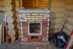 Печь в рубленой бане, п.Горелово, ЛО.