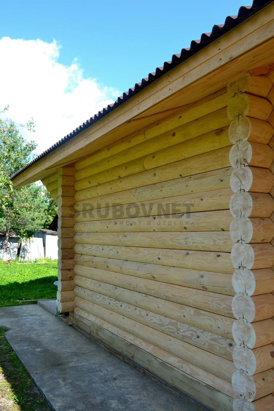 Отделка деревянного дома, п. Сиверский, ЛО.